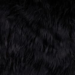 Shannon Faux Fur Arctic Fox Black Fabric