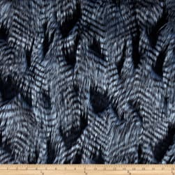 Shannon Lux Fur Fancy Feather Denim-Blue Fabric