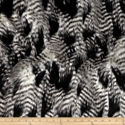 Shannon Faux Fur Fancy Feather Black/White Fabric