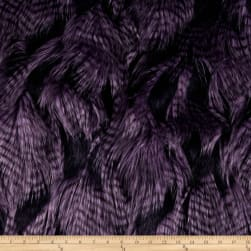 Shannon Faux Fur Fancy Feather Violet Fabric