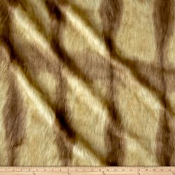 Shannon Faux Fur Fox Tail Gold Fabric