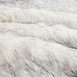 Shannon Faux Fur Husky Black/White Fabric