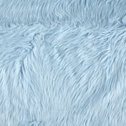 Shannon Faux Fur Luxury Shag Baby Blue Fabric