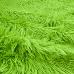 Shannon Faux Fur Mongolian Lime Fabric