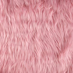 Shannon Lux Fur Mongolian Pink Fabric