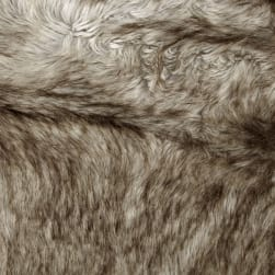 Shannon Faux Fur Siberian Fox Silver Fabric