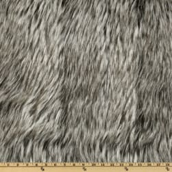 Shannon Faux Fur Siberian Husky Black/Grey Fabric