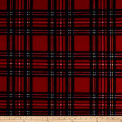Fleece Plaid Stewart Tartan Red Royal Fabric