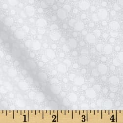 Tone On Tone Dots White/White Fabric