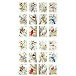 Beautiful Birds Panel Cream Fabric