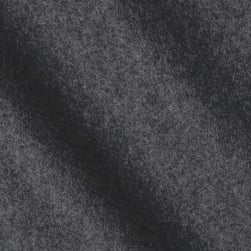 Telio Wool Blend Melton Charcoal Fabric
