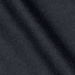 Telio Wool Blend Melton Navy Fabric