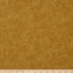 "110"" Wide Flannel Willow Mustard"