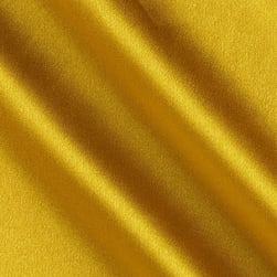 Telio Tahari Stretch Satin Golden Yellow Fabric