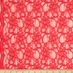 Telio Xanna Floral Lace Coral Orange