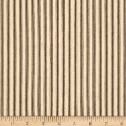 "44"" Ticking Stripe Potting Soil Brown"