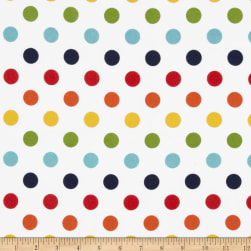 Riley Blake Medium Dots Flannel Rainbow Fabric
