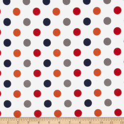 Riley Blake Flannel Basics Dots Medium Boy Orange/Blue