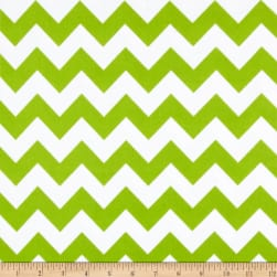 Riley Blake Medium Chevron Flannel Lime Fabric
