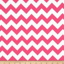 Riley Blake Flannel Basics Chevron Medium Hot Pink