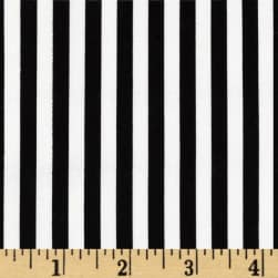 Michael Miller Clown Stripe White Fabric