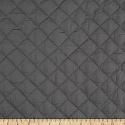 Double Sided Quilted Broadcloth Dark Grey Fabric