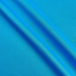 Athletic Mesh Knit Turquoise Fabric