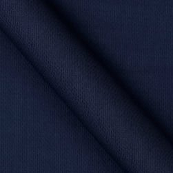 Athletic Mesh Knit Navy Fabric