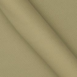 Athletic Mesh Knit Tan Fabric