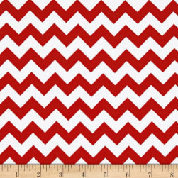 Riley Blake Jersey Knit Chevron Small Red Fabric