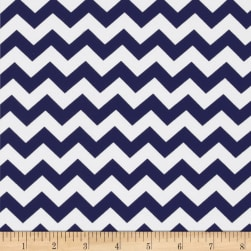 Riley Blake Jersey Knit Chevron Small Navy