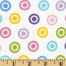 Alpine Flannel Basics Circle Dots Multi/Girl Fabric