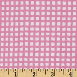 Alpine Flannel Basics Check Bright Pink Fabric