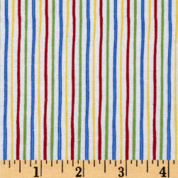 Alpine Flannel Stripe Multi/Bright Fabric