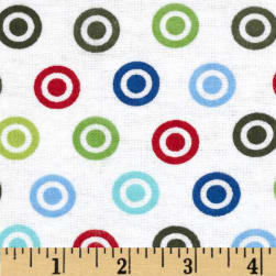 Alpine Flannel Basics Circle Dots Multi/Primary Fabric