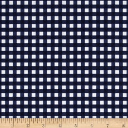 Riley Blake Basics Medium Gingham Navy Fabric
