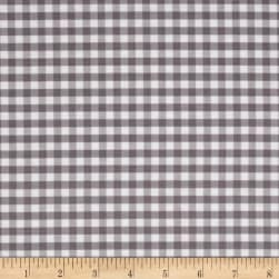 Riley Blake Basics Medium Gingham Gray Fabric