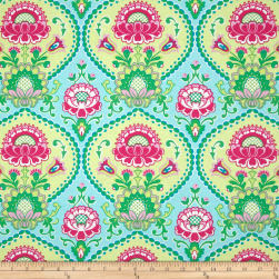 Michael Miller Happy Tones Lavinia Aqua Fabric