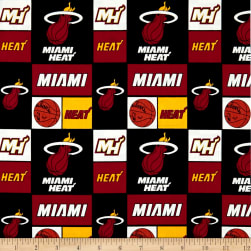 NBA Cotton Broadcloth Miami Heat Multi Fabric