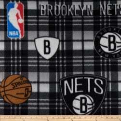 NBA Fleece Brooklyn Nets Black Fabric