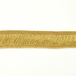 "2"" Metallic Chainette Fringe Trim Gold"