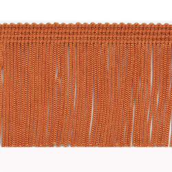 "2"" Chainette Fringe Trim Orange"