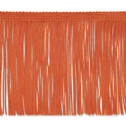 "4"" Chainette Fringe Trim Orange"