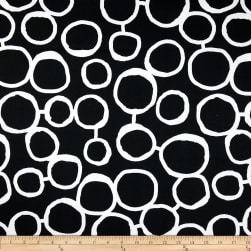 Premier Prints Freehand Black/White Fabric