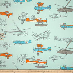 Premier Prints Vintage Air Mandarin/Natural Fabric