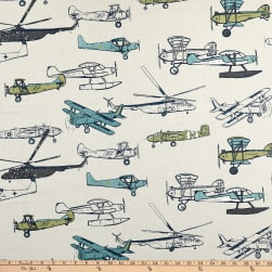 Premier Prints Vintage Air Felix/Natural Fabric