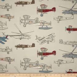 Premier Prints Vintage Air Pewter/Natural Fabric