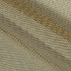 Shiny Tulle Antique Gold Fabric