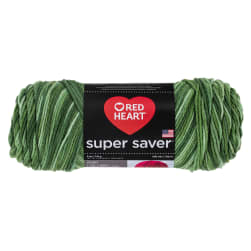 Red Heart Super Saver Yarn 3629 Green Tones