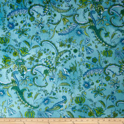 Minky Prints Sweet Pea Turquoise Fabric